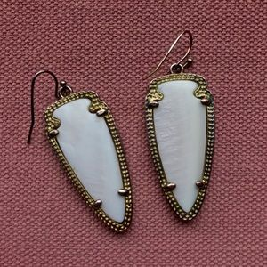 Kendra Scott Skylar Earrings - White Pearl & Gold